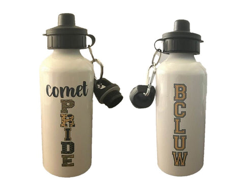 BCLUW Comets Water Bottle