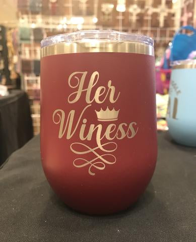 Her Winess Stemless Wineglass - Polar Camel