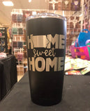 Iowa - Home Sweet Home Polar Camel 20 oz Ringneck Tumbler