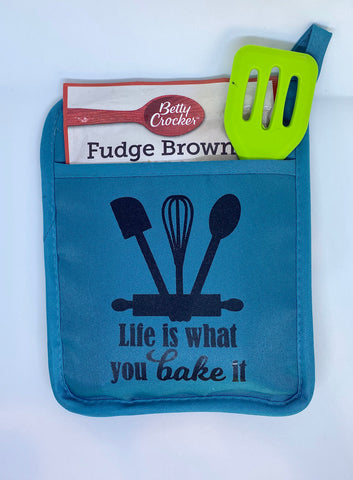 Life Is What You Bake It Hot Pad Gift Set