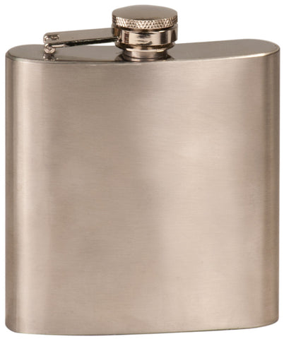 Flask, 6oz Classic Chrome Engraved