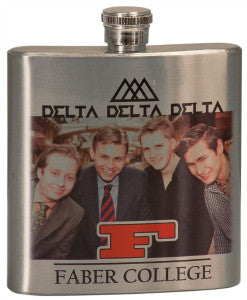 Flask, 6oz Classic Chrome Image Printed