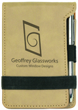 Personalized Leatherette Notepad with Pen
