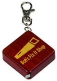 Square 3-Foot Tape Measure with Key Chain, Engraved