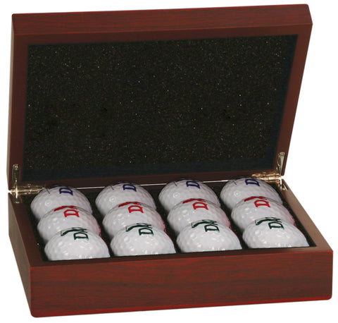 Rosewood Finish Golf Ball Set
