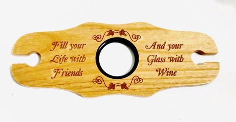 Double Wine Glass Holder, Friends