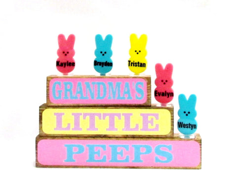 Little Peeps Family Block Set