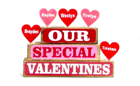 Our Special Valentines Block Set
