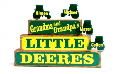 Little Deeres Family Block Set