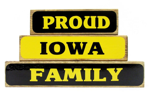Proud Iowa Family Block Set