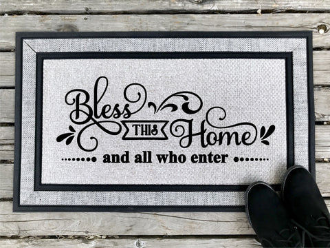 Bless This Home - Door Mat