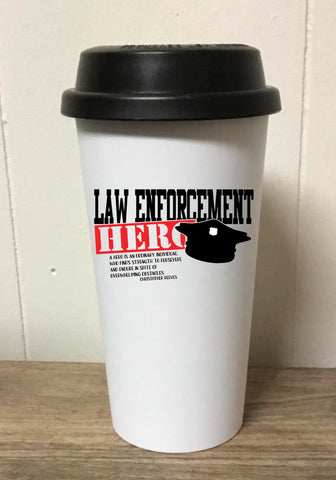 Law Enforcement Hero Tumbler
