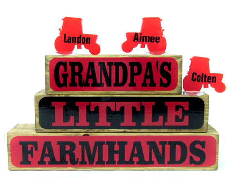 Little Farm Hands Family Block Set