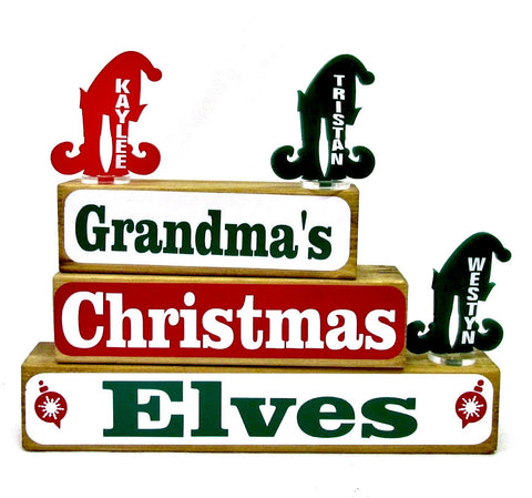 Christmas Elves Family Block Set