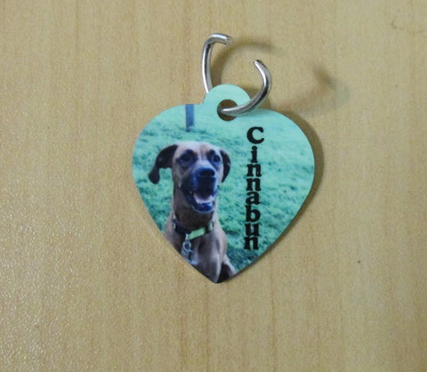 Pet Collar Tag, Heart