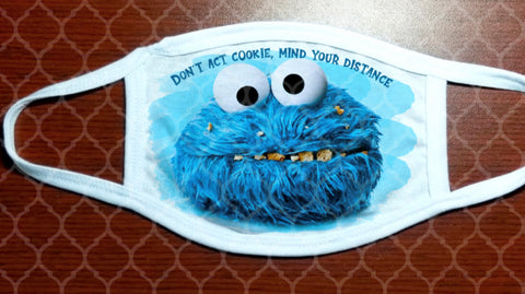 Face Mask - Cookie Monster