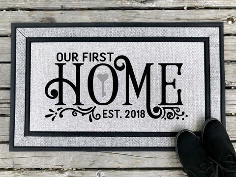 Our First Home - Personalized Door Mat