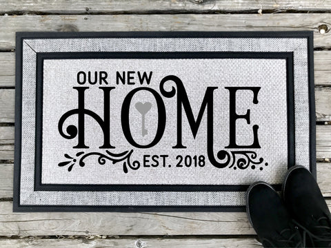 Our New Home - Personalized Door Mat