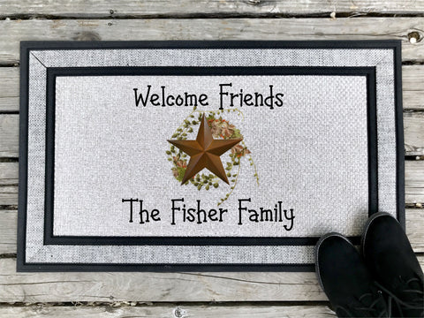 Welcome Friends - Personalized Door Mat