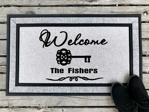 Welcome - Personalized Door Mat