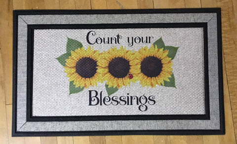 Count Your Blessings - Door Mat