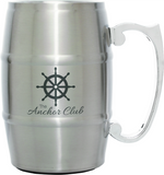 Stainless Steel Barrel Mug with Handle, Engraved