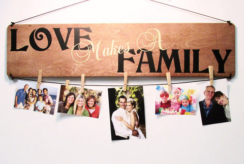 Love Makes a Family Picture Board