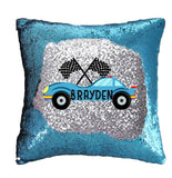 Racing Sequin Pillow Cover