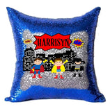 Super Hero Sequin Pillow Cover