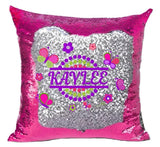 Butterfly Sequin Pillow Cover