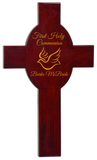 Rosewood Piano Finish Cross, Engraved