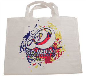 "White Image Printed Bag with 7"" Gusset"
