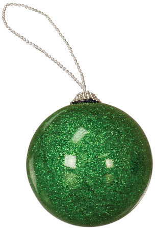 Photo Insert Green Glitter Ornament