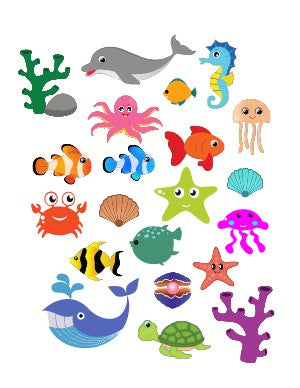 Helmet Decals, Sea Creatures