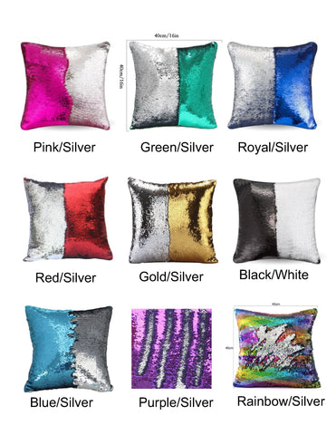 Personalized Sequin Pillow Cover