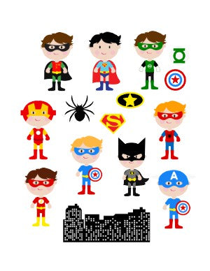 Helmet Decals, Super Heroes