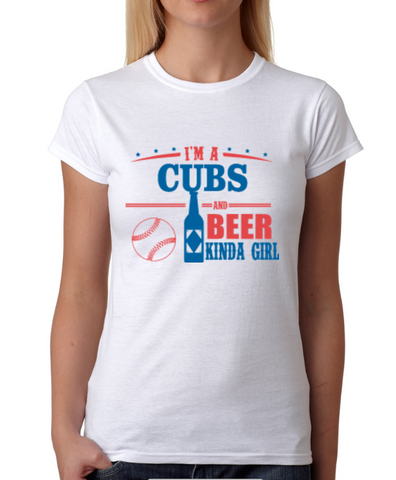 Cubs and Beer Girl T-Shirt