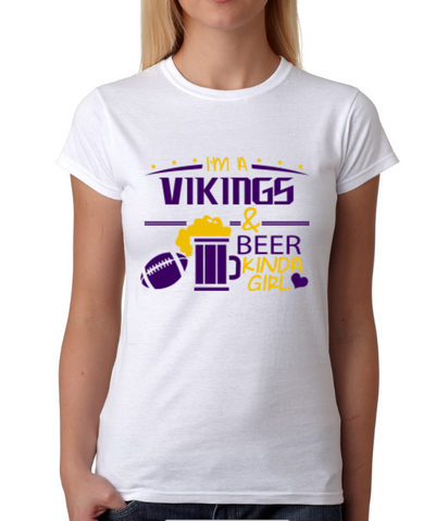 Vikings and Beer Girl T-Shirt