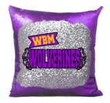 WBM Wolverines Sequin Pillow Cover