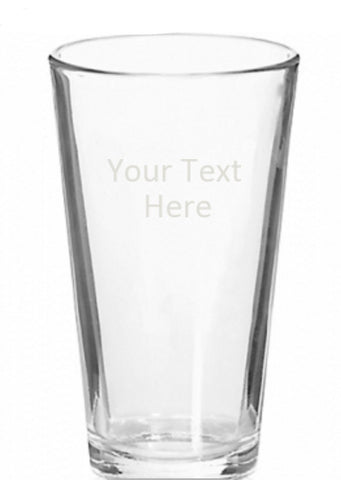 Beer Glass, Engraved