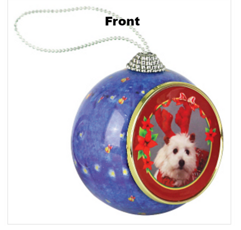 Photo Insert Santa/Sleigh Ornament