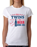 Twins and Beer Girl T-Shirt