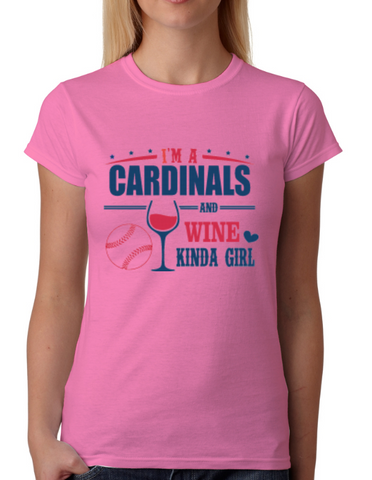 Cardinals and Wine Girl T-Shirt