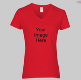 Women's Cotton V-Neck Custom Shirt