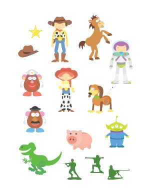 Helmet Decals, Toy Story