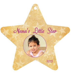 Aluminum Star Photo Ornament