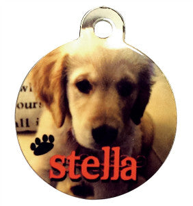 Pet Collar Tag, Circle
