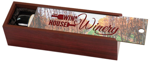 Rosewood Wine Box, Image Printed