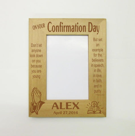 Confirmation Picture Frame, Personalized
