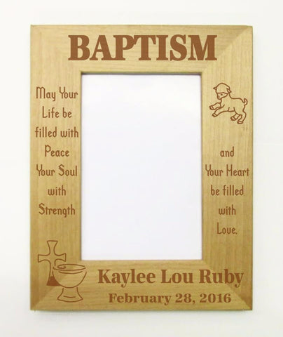 Baptism Picture Frame, Heart Filled with Love